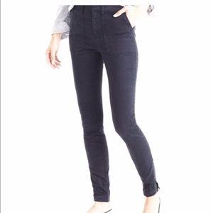 J.Crew Skinny Cargo Pant Ankle Zipper Black Grey
